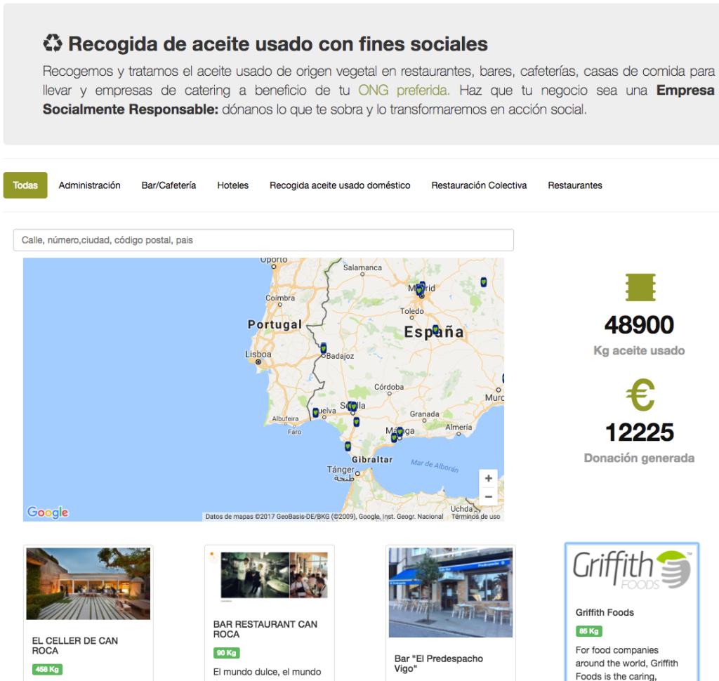Los Empresarios en España prefieren que su aceite usado sea solidario