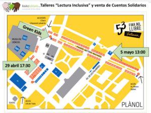 Plano de situación Talleres de Lectura Inclusiva en Feria del Libro Valencia